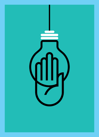 reach: Reach idea with human hand Illustration