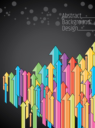 onwards: Business Colored arrows vector