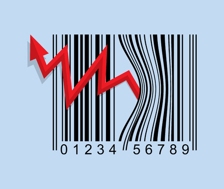 price is high, bar code show concept