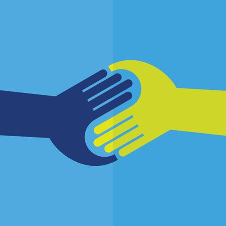 Teamwork Handshake . Vector illustration.