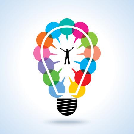 agitation: Creative idea of successful businessman