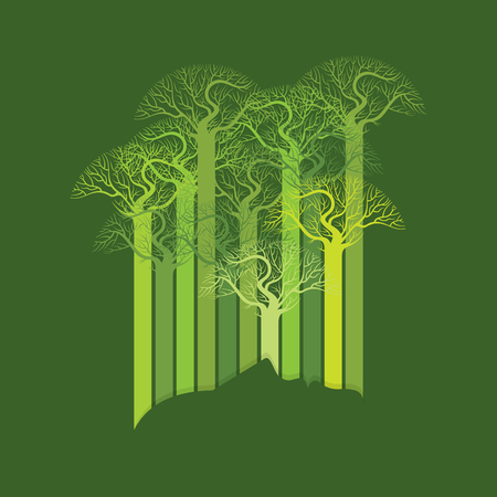natural energy: Person ecological, think green, concept idea. Illustration
