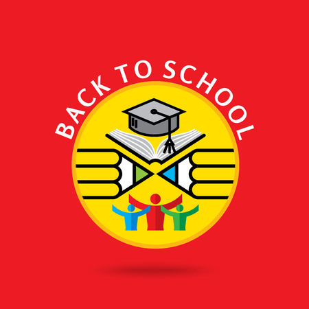 Back to school concept vector design