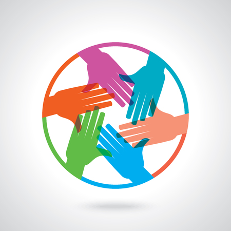 teamwork: Teamwork People, Holding hands. Design for teamwork concept illustration