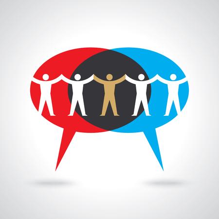 Ludzie pracy zespołowej, trzymając się za ręce. Projekt ilustracji koncepcji pracy zespołowej