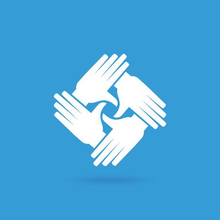 Travail d'équipe Personne humaine, Tenir la main. Design for concept d'équipe illustration Banque d'images - 62247657