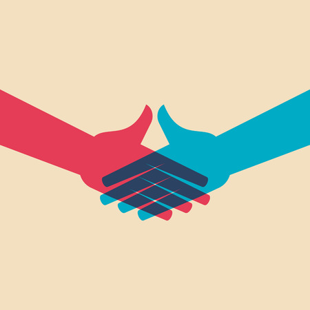 Teamwork Menschen, die Hände halten. Entwurf für Teamwork-Konzept Illustration Standard-Bild - 62247658