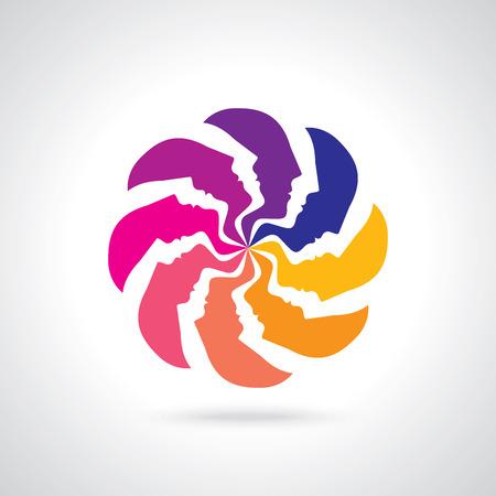 new idea: Thinking team a new idea temwork Illustration