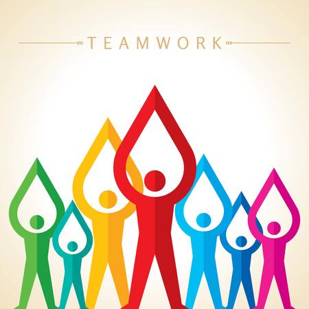 Teamwork Menschen, die Hände halten. Entwurf für Teamwork-Konzept Illustration