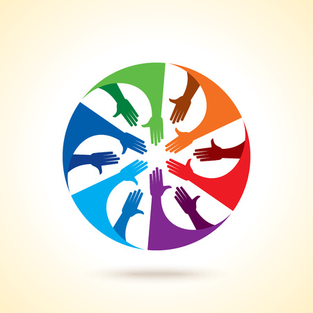 partnership security: Teamwork People, Holding hands. Design for teamwork concept illustration
