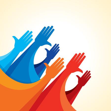 teamwork business: Teamwork People, Holding hands. Design for teamwork concept illustration