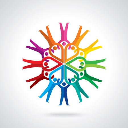 Travail d'équipe Personne humaine, Tenir la main. Design for concept d'équipe illustration Illustration