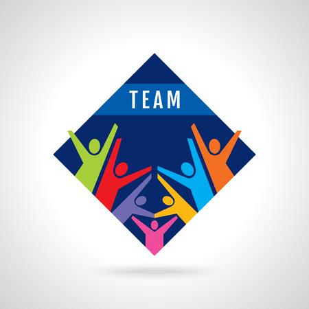 Trabajo en equipo, de la mano. Diseño para el trabajo en equipo concepto ilustración
