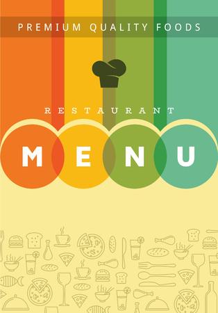 junkfood: Restaurant menu card design template, Creative vector.