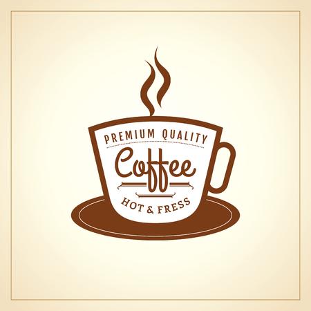 coffee icon: Coffee design template, creative vector Illustration