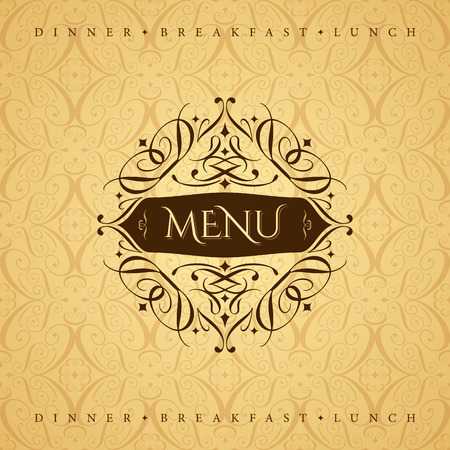 set up: Restaurant menu card design template, Creative vector.