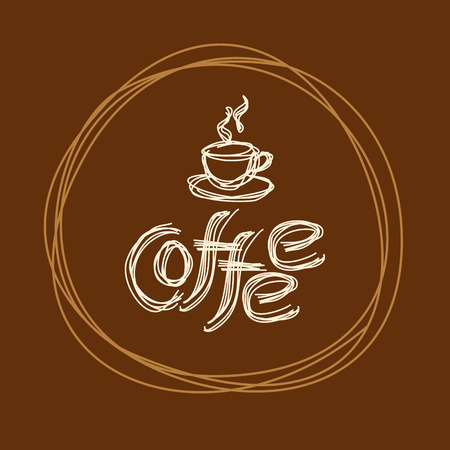 drink food: Coffee design template, creative vector Illustration