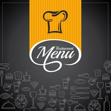 menu design: Restaurant menu card design template, Creative vector.