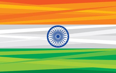 National India flag. India flag vector design. Illustration