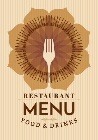 Restaurant-Menü-Karte Design-Vorlage, kreative Vektor.