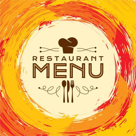 Restaurant Design modello di scheda di menu, creativo vettoriale.