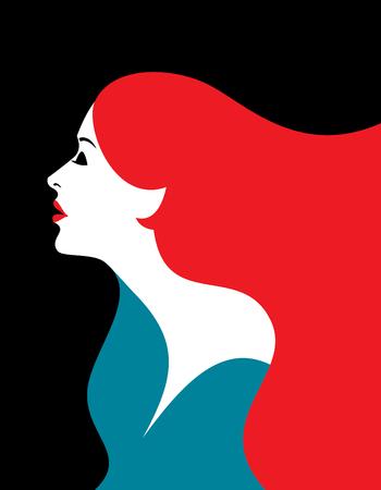 sexy brunette woman: creative fashion women portrait