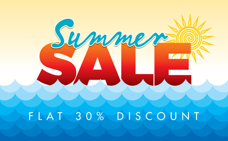 Summer Sale banner design template for promotion Stock Vector - 74833064