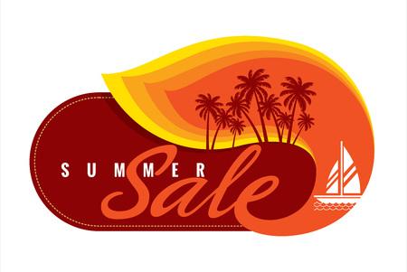 総: 夏のセールのバナー デザイン テンプレート振興