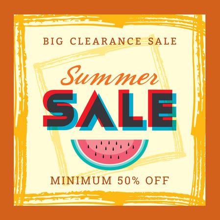 shop sign: Summer Sale banner design template for promotion