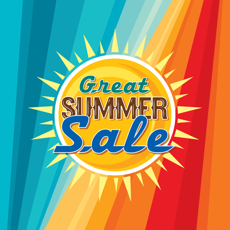 discount banner: Summer Sale banner design template for promotion