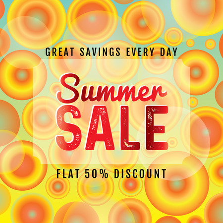 sell: Summer Sale banner design template for promotion