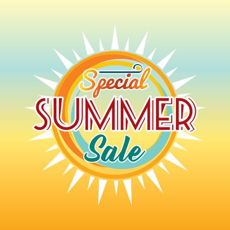 trade off: Summer Sale banner design template for promotion