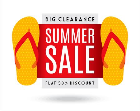 huge: Summer Sale banner design template for promotion