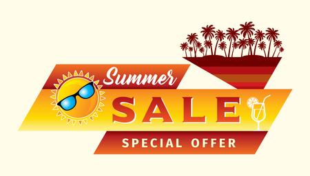 夏のセールのバナー デザイン テンプレート振興 写真素材 - 74869836