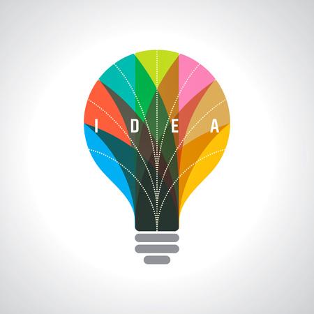 Light bulb idea. Concept of brain. Stock Vector - 74869855