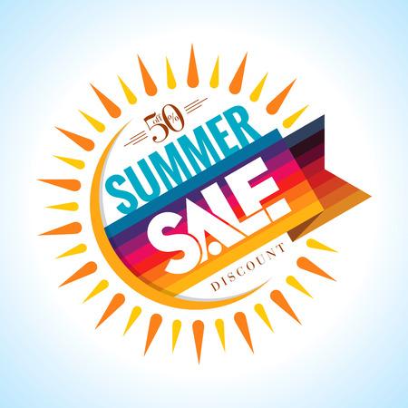승진을위한 여름 판매 배너 디자인 템플릿