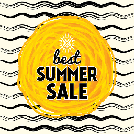 fall fashion: Summer Sale banner design template for promotion