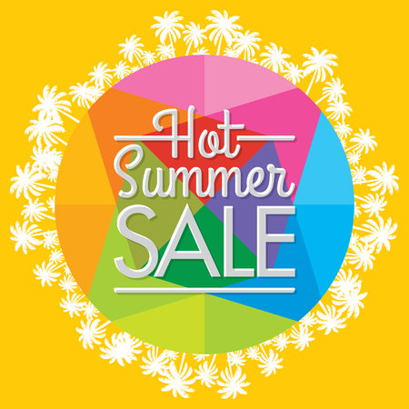 sun: Summer Sale banner design template for promotion