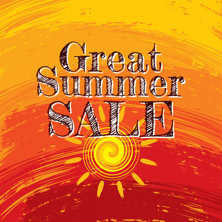 Summer Sale banner design template for promotion