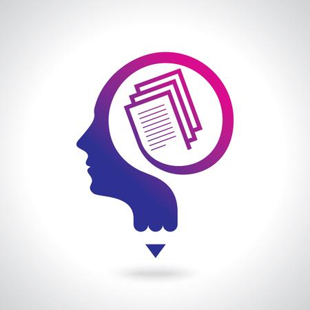 教育のアイデアのロゴ、ベクトルのロゴのテンプレート。