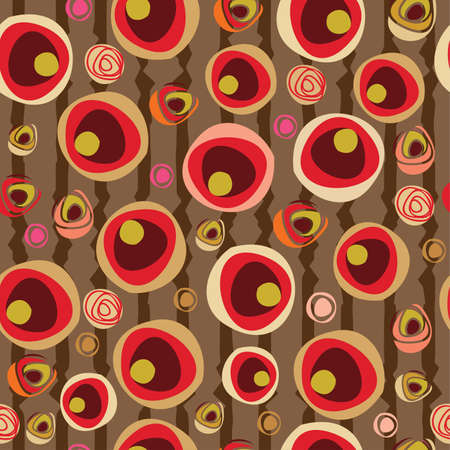 Abstract background pattern with stylized flowers foe wallpaper
