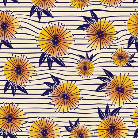 Abstrakt Natur Muster mit Pflanzen, Blumen. Endless Muster kann für Tapeten, Muster füllt, Web-Seite Hintergrund, Oberflächen textures.Retro Hintergrund, Hintergrund, Stoff und Interieur Design-Nutzung