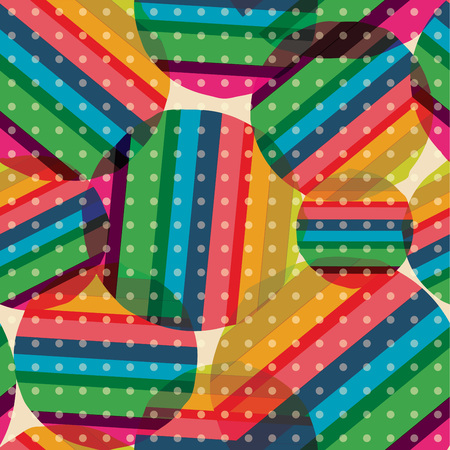 Retro patroon van geometrische vormen. Kleurrijke mozaïekachtergrond. Geometrische hipster retro achtergrond. Stock Illustratie