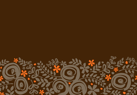 autumn garden: Abstract Nature Pattern with plants, flowers. Endless pattern can be used for wallpaper, pattern fills, web page background, surface textures.Retro wallpaper, background, fabric and interior design usage