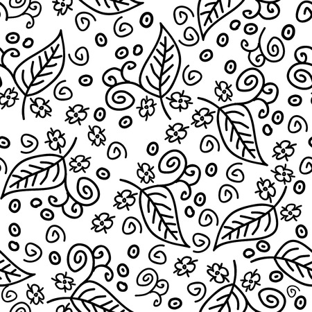 pattern: Abstract Nature Pattern with plants, flowers. Endless pattern can be used for wallpaper, pattern fills, web page background, surface textures.Retro wallpaper, background, fabric and interior design usage
