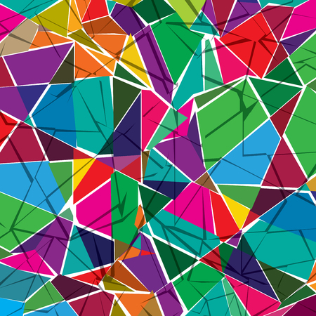 Retro pattern of geometric shapes. Colorful mosaic backdrop. Geometric hipster retro background. Illustration