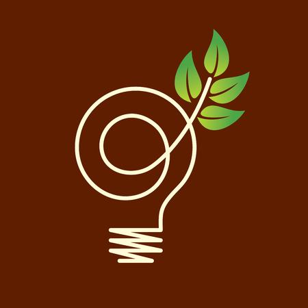 Green eco Energiekonzept, wachsende Pflanze im Inneren der Glühbirne