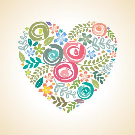 Carte d'invitation à fleurs, enregistrer la carte de date, modèle de carte de voeux Banque d'images - 77015434
