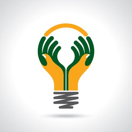 Reichweite mit menschlichen Händen Illustration