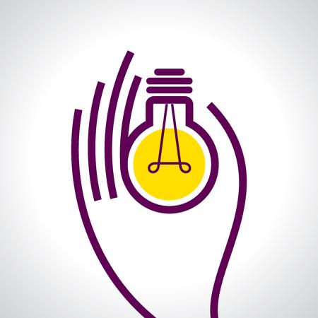 Erreichen Sie die Idee mit menschlichen Händen